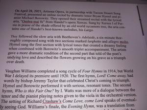 BWW Review: BRYAN HYMEL RECITAL FOR ARIZONA OPERA AND TUCSON DESERT SONG FESTIVAL