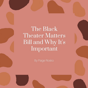 Student Blog: The Black Theater Matters Bill and Why It's Important