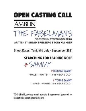 Spielberg-Directed Feature Film THE FABELMANS Seeking Kid and Teen Actors