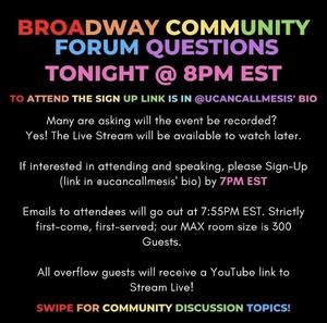 Student Blog: Broadway Community Forum