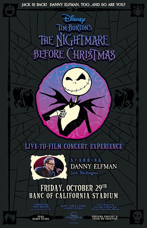 Danny Elfaman Will Perform in THE NIGHTMARE BEFORE CHRISTMAS Event at Banc of California Stadium in October