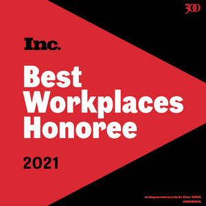 300 Entertainment Named one of INC Magazine's Best Workplaces for 2021