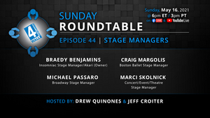 Stage Managers From Broadway, Ballet, Concerts, Events & Music Festivals to be Guests on the Next 4WALL ROUNDTABLE