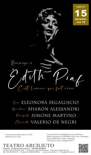 BWW Review: HOMMAGE À EDITH PIAF     C'EST L'AMOR QUI FAIT RÊVER  al Teatro Arciliuto
