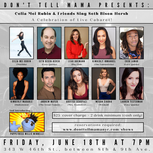 Celia Mei Rubin & Friends to Sing the Music of Seth Bisen-Hersh at Don't Tell Mama in June