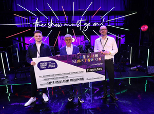 THE SHOW MUST GO ON! LIVE AT THE PALACE THEATRE Raises £1 Million For Charities