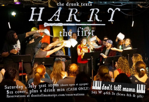 Random Access Theatre Takes A VERY Drunk Text Run At Harry Potter with, HARRY THE FIRST, THE BOY WHO HATH LIV'D at Don't Tell Mama
