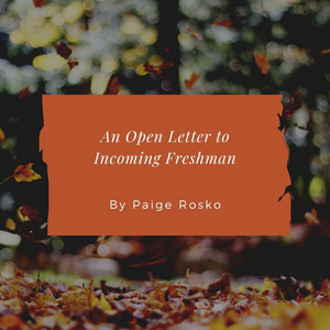 Student Blog: An Open Letter to Incoming Freshman