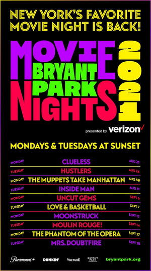 Bryant Park Movie Nights to Kick Off Next Week With CLUELESS and HUSTLERS