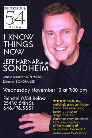 I KNOW THINGS NOW: JEFF HARNAR SINGS SONDHEIM To Premiere November 10 at Feinstein's/54 Below