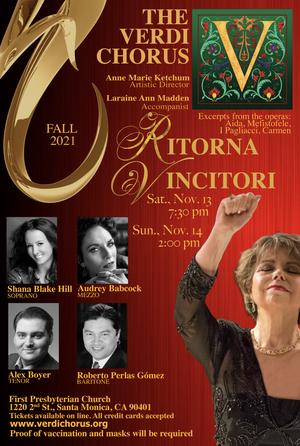 Verdi Chorus Presents RITORNA VINCITORI! This November