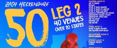 Zach Heckendorf Announces Second Leg of '50 States Livestream Tour'