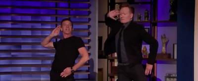 VIDEO: Antonio Banderas Teaches Conan Choreography From A CHORUS LINE