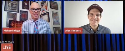 VIDEO: Alex Timbers Visits Backstage LIVE with Richard Ridge- Watch Now!