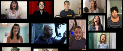 VIDEO: Telly Leung, Justin Guarini and the Cast of IN TRANSIT Sing Virtual A Capella 'We Are Home'