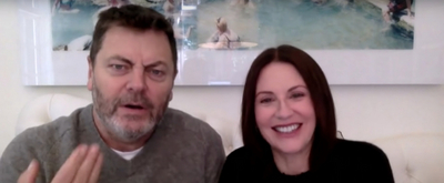 VIDEO: Nick Offerman & Megan Mullally Talk About How They Met on LATE NIGHT WITH SETH MEYERS