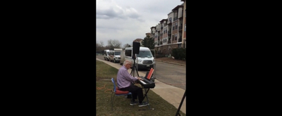 Take a Look at This Heartwarming Video of a Man Playing Piano For a Retirement Community Under Lockdown