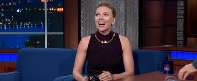 VIDEO: Scarlett Johansson Talks BLACK WIDOW on THE LATE SHOW WITH STEPHEN COLBERT