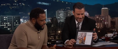 VIDEO: Anthony Anderson Talks to Jimmy Kimmel about Magic Johnson