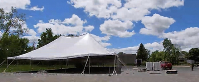 VIDEO: Watch The Tent Go Up At Barrington Stage