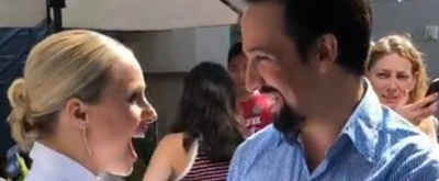Kristen Bell Goes Full Fangirl Meeting Lin-Manuel Miranda At Comic-Con