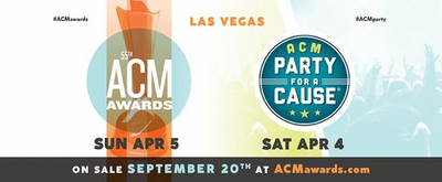 ACADEMY OF COUNTRY MUSIC AWARDS Heads to Las Vegas on April 5, 2020