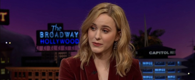 VIDEO: Rachel Brosnahan Shares a Throwback Photo on THE LATE LATE SHOW WITH JAMES CORDEN