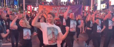 VIDEO: Original SATURDAY NIGHT FEVER Cast Discos Into Times Square to Celebrate 20th Anniversary!