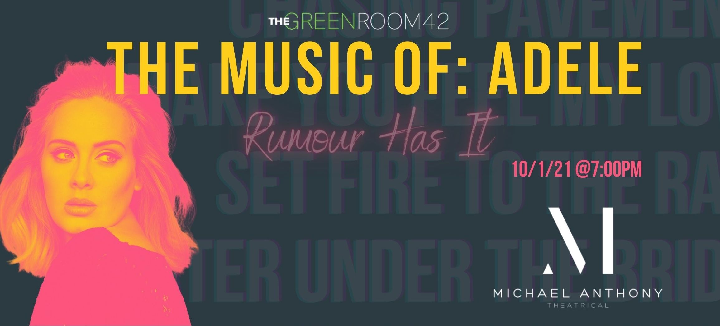 THE MUSIC OF: ADELE to be Presented at The Green Room 42