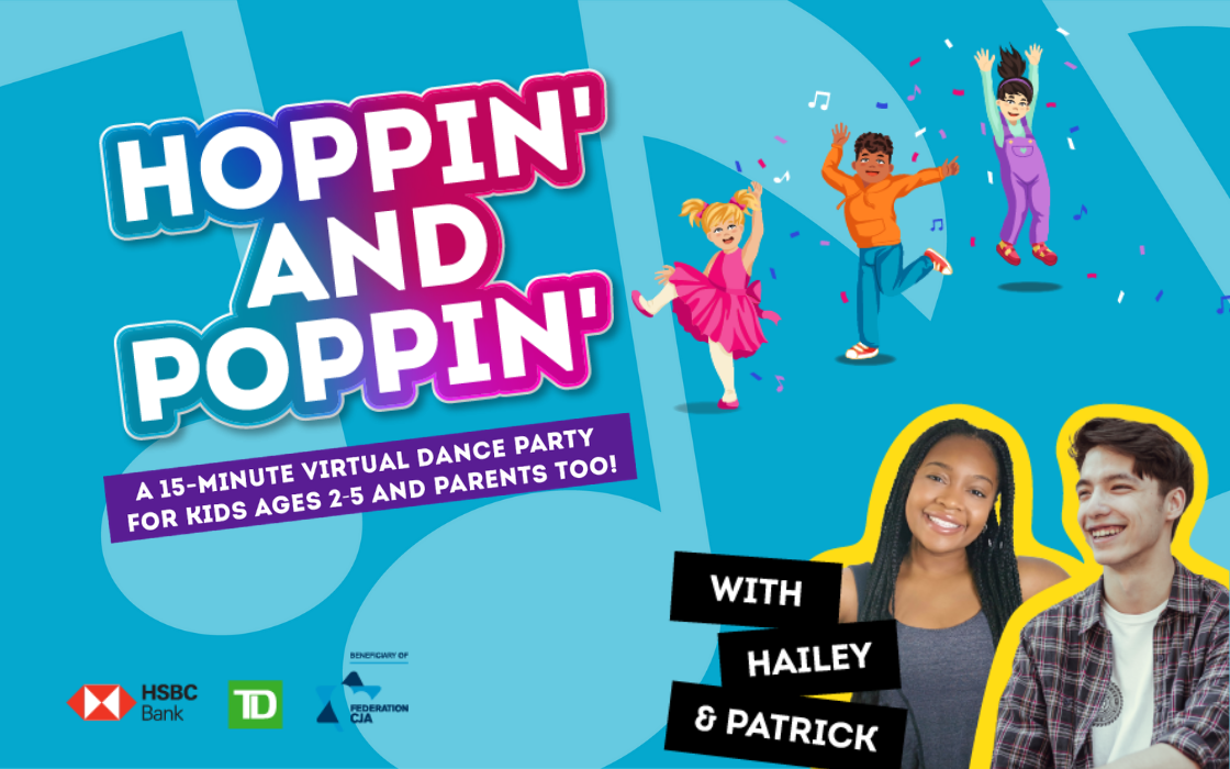 Segal Centre Launches HOPPIN' & POPPIN' Online Initiative To Keep Kids Active This Winter