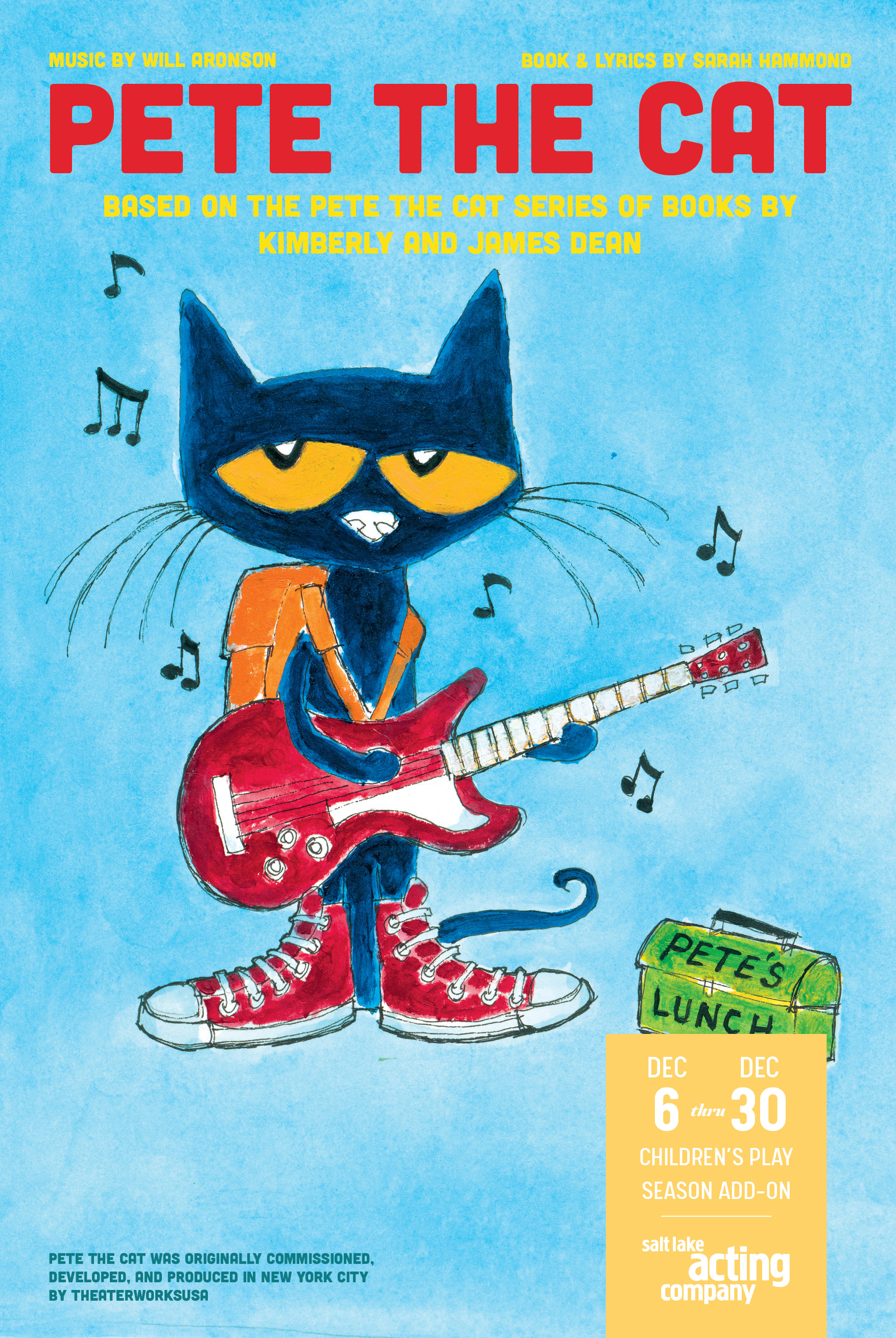 Salt Lake Acting Company Launches Second Decade of Professional Children's Theater with WITH PETE THE CAT
