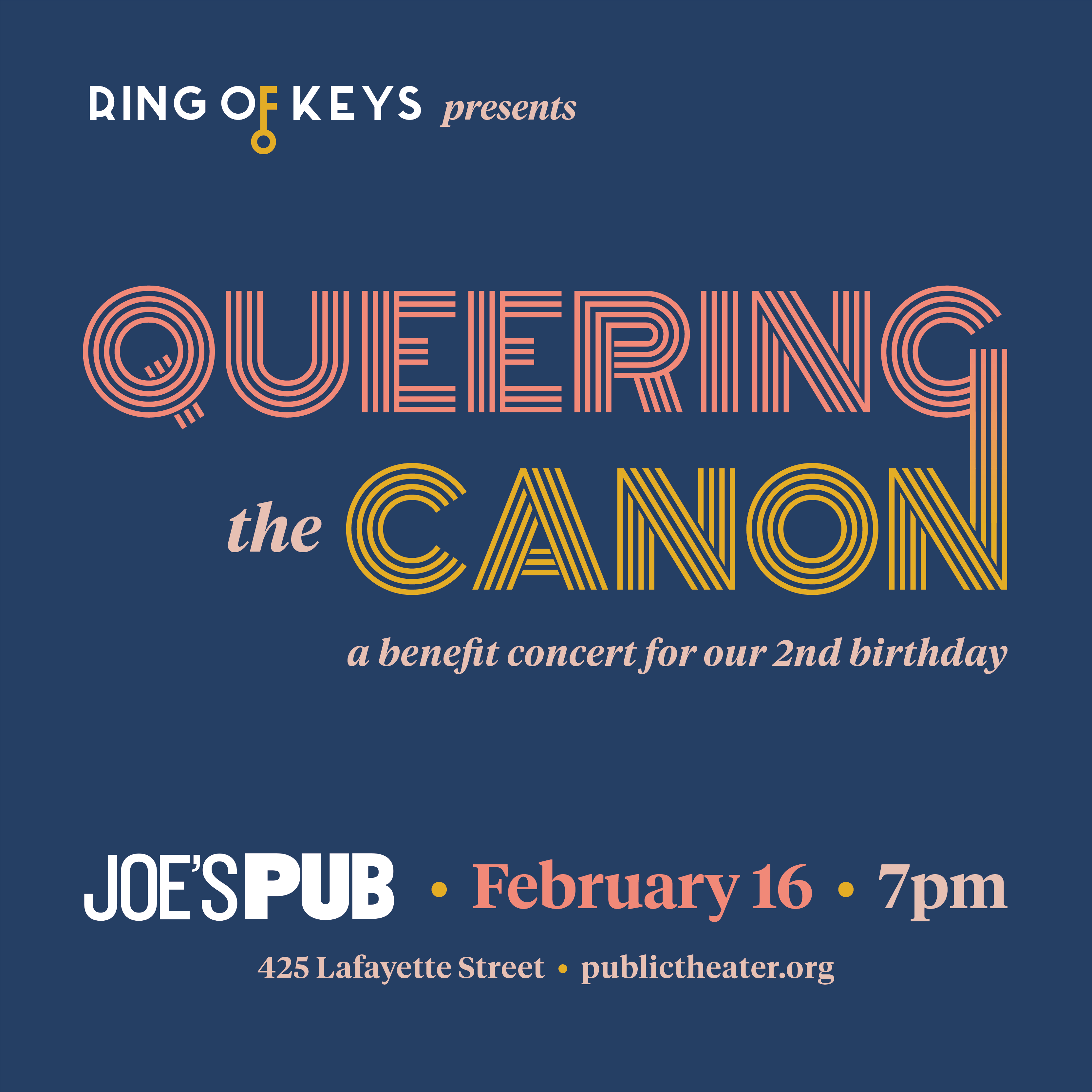 QUEERING THE CANON: A Benefit Concert for Ring of Keys' 2nd Birthday Comes To Joe's Pub