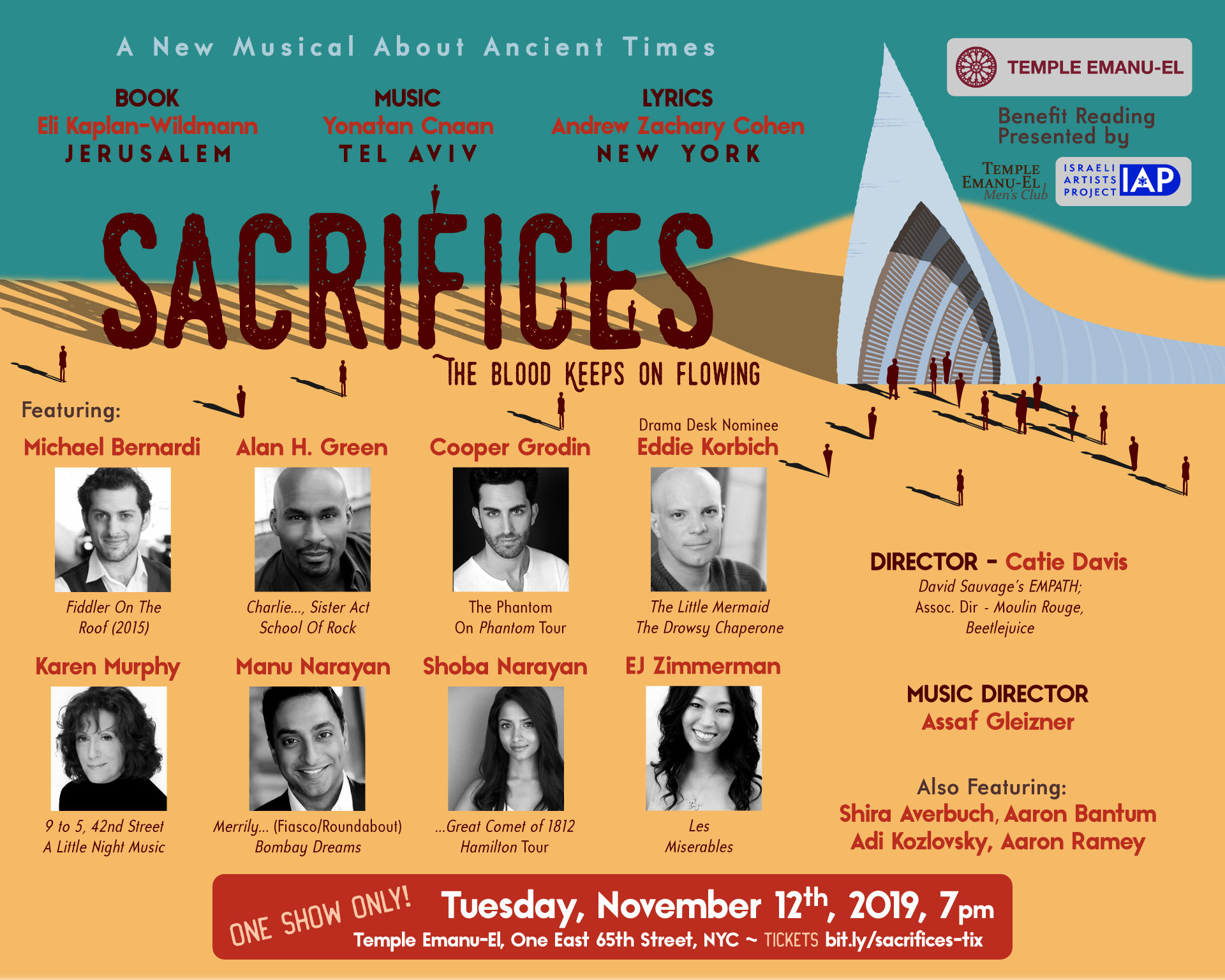 Benefit Reading Of The New Musical SACRIFICES to Feature Eddie Korbich, Shoba Narayan, and More