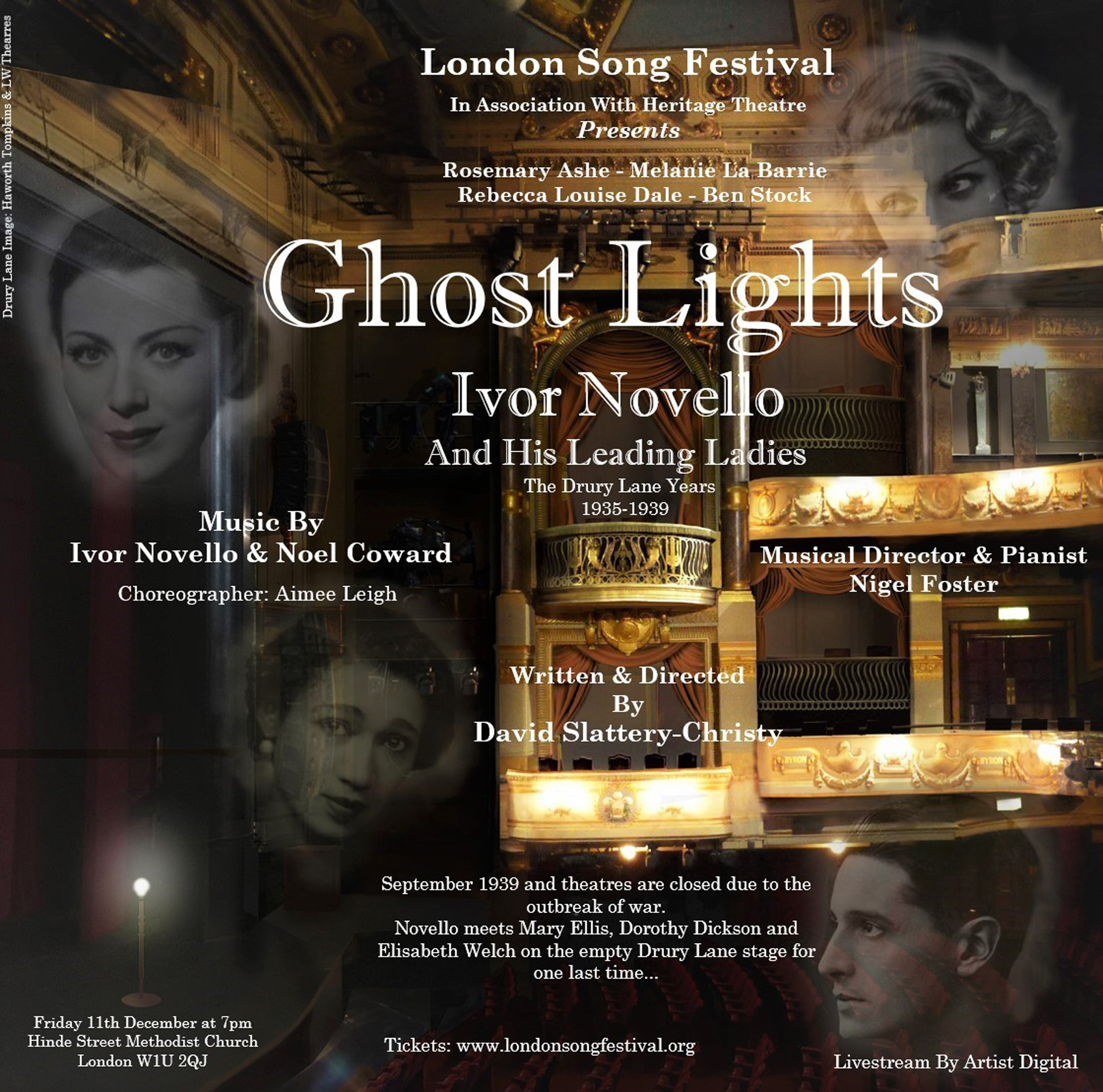 London Song Festival Presents GHOST LIGHTS: IVOR NOVELLO & HIS LEADING LADIES
