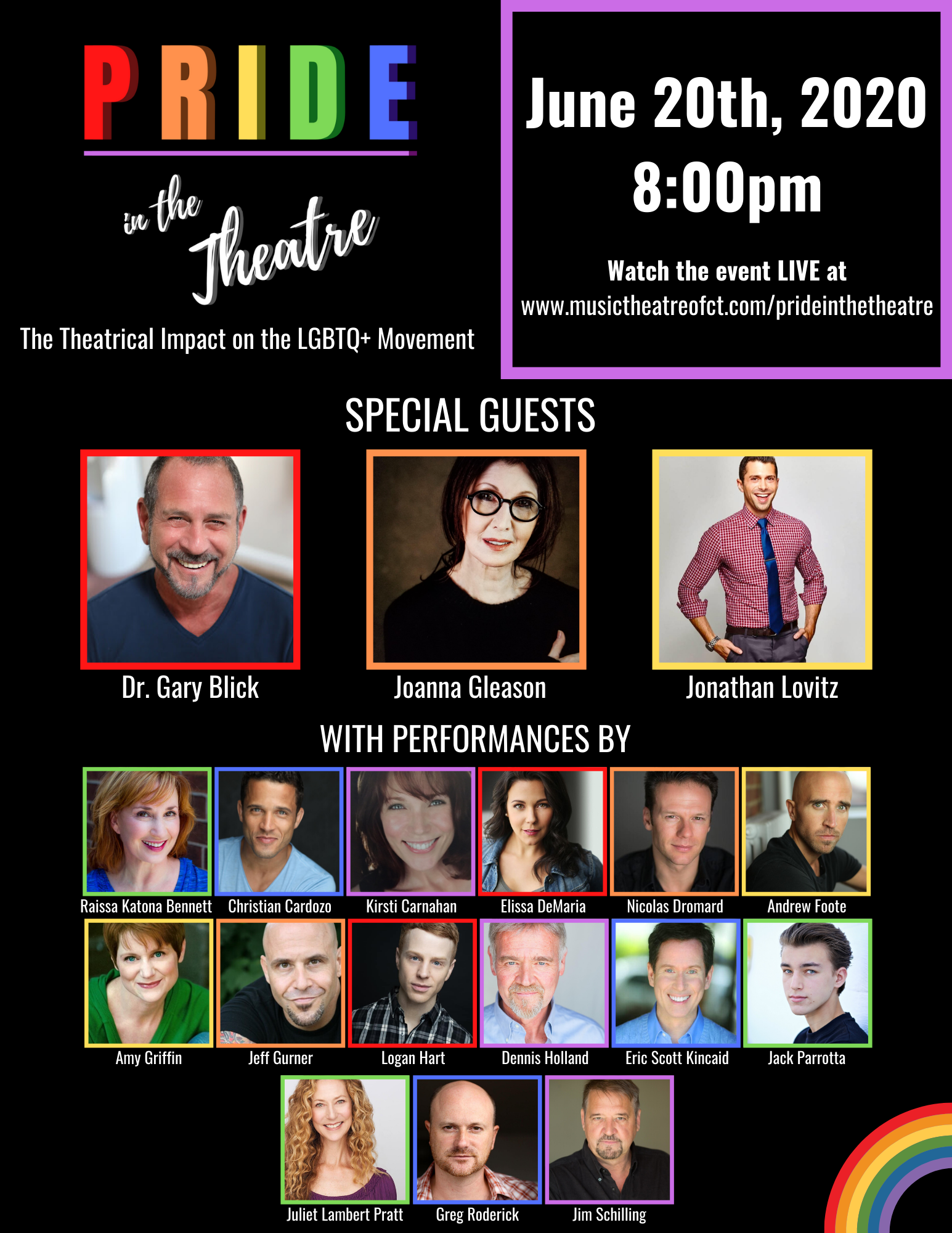 Music Theatre of Connecticut Announces PRIDE IN THE THEATRE Featuring Joanna Gleason and More