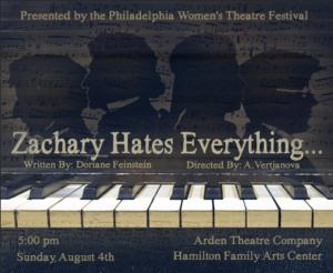 Reading of ZACHARY HATES EVERYTHING Comes to Arden Theatre Company's Hamilton Family Arts Center