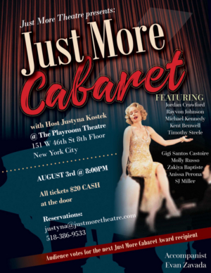 Just More Theatre Presents JUST MORE CABARET