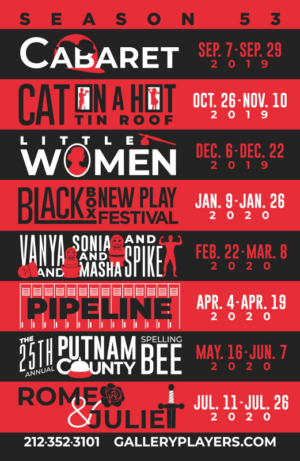 Gallery Players Announces 2019-2020 Season