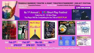 The Riant Theatre and The Triangle Rainbow Theatre Present 1st Annual LGBTQ Short Play Festival Of One-Acts