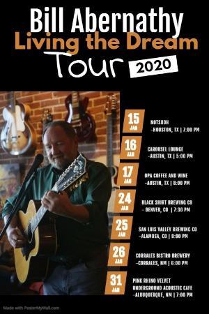Chart-Topping Folk Artist Bill Abernathy Announces 'Living The Dream' Solo Tour Dates