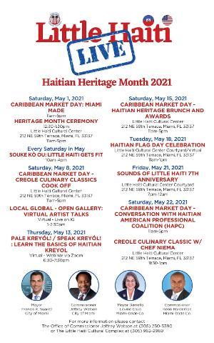 Little Haiti Cultural Complex Haitian Heritage Month Celebration