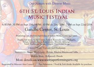 6th Annual St. Louis Indian Music Festival Returns September 20-22