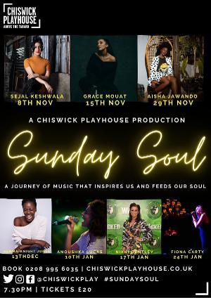 Chiswick Playhouse Launches SUNDAY SOUL With Sejal Keshwala, Grace Mouat, Aisha Jawando and More