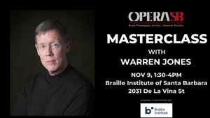 Opera Santa Barbara Announces Masterclass With Warren Jones, Pianist And Conductor