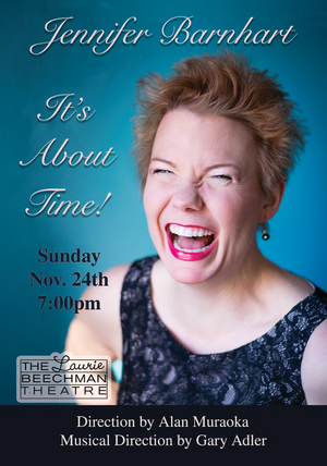 Encore Date Added For Jennifer Barnhart's Solo Cabaret Debut At The Laurie Beechman Theater In It's About Time!