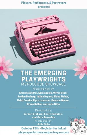 Players, Performers, & Portrayers Presents Inaugural Production: The Emerging Playwrights Monologue Showcase
