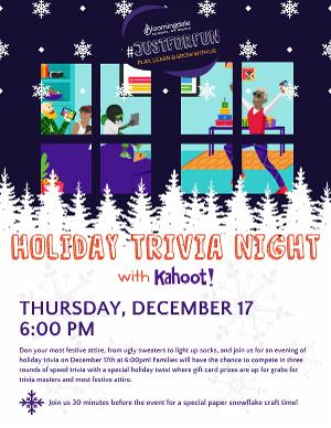 Bloomingdale School Of Music Virtual Holiday Trivia Night