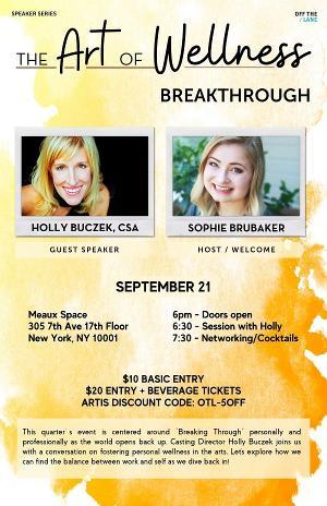 Off The Lane Presents ART OF WELLNESS: Breakthrough with CSA Holly Buczek