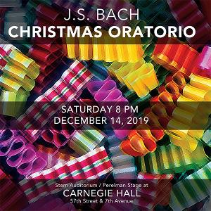 The Cecilia Chorus Of New York Presents Bach's Christmas Oratorio On December 14 At Carnegie Hall