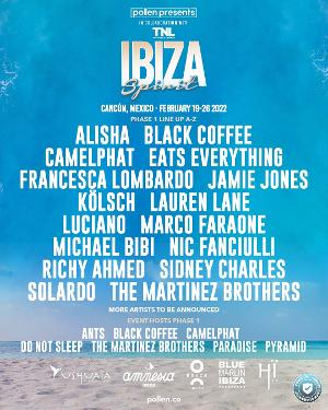Ibiza Spirit In Cancun Announces Black Coffee, The Martinez Brothers, Francesca Lombardo & More For Debut Experience